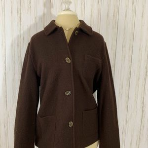 Talbots Brown Coat Wool